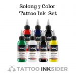 Solong 7 Color Tattoo Ink Set