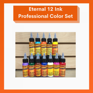 Eternal Tattoo Ink 12 Color Primary Ink Professional Set