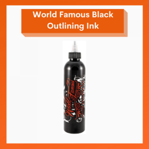 World Famous Tattoo Ink - Black Outling Ink - 8oz