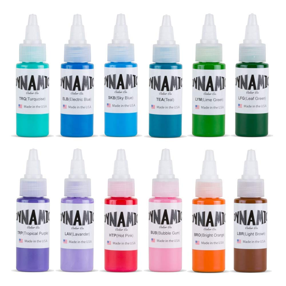 Dynamic Color Tattoo Ink Set of All 1 oz Circa 2003 Colors Made in USA Set 1
